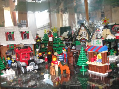 village de noel lego city. Black Bedroom Furniture Sets. Home Design Ideas