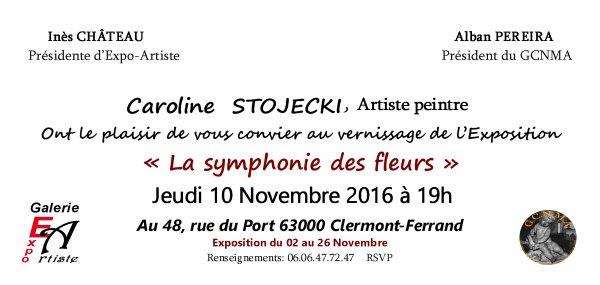 Vernissage Exposition Caroline Stojecki Galerie Expo-Artiste Clermont-Ferrand