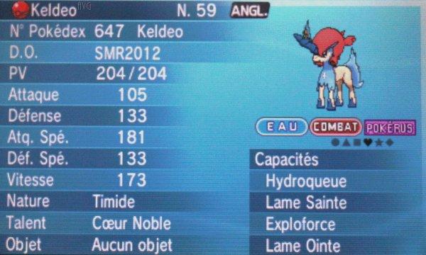Le Pokémon Légendaire de son choix...?