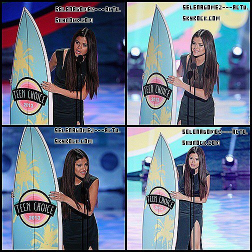 Teen Choice Awards 2012 : Selena Gomez, le prix du