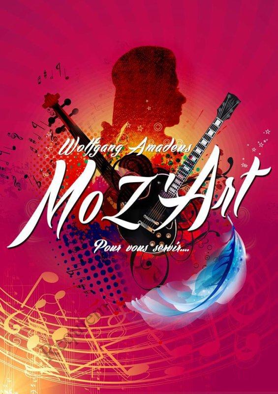 AFFICHE DU NOUVEAU SPECTACLE: Wolfgang Amadeus MoZ'art pour vous servir!