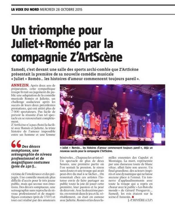 Un triomphe pour Juliet + Roméo