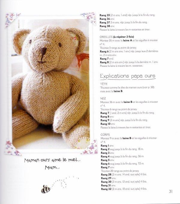 la famille ours au tricot blog de le tricot de marcelle. Black Bedroom Furniture Sets. Home Design Ideas