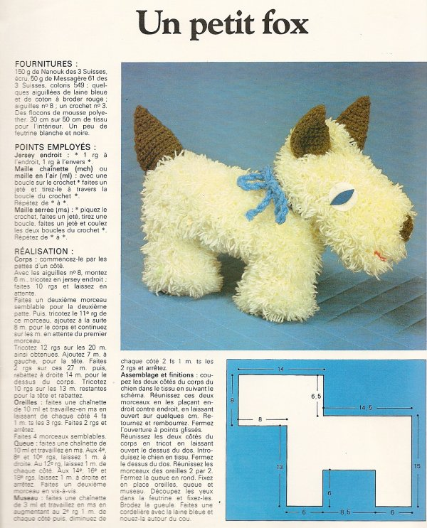 Et un petit chien tricot et crochet blog de le tricot de marcelle - Petit chien gratuit ...