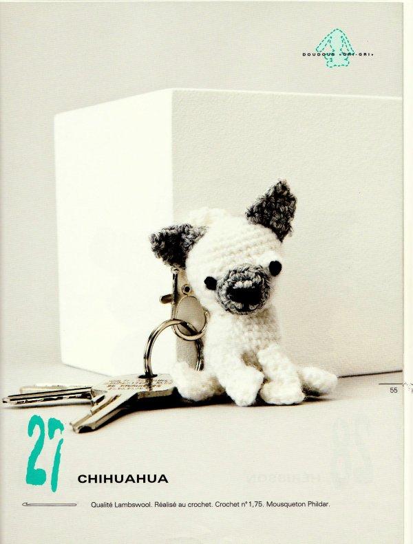 Chihuahua au crochet blog de le tricot de marcelle - Clef a laine ...