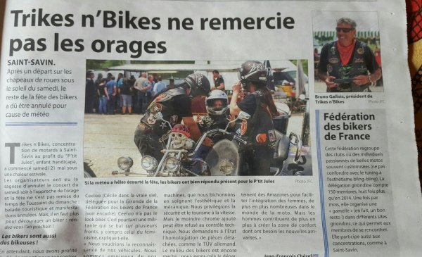 Merci aux journalistes pour c ewt bonnes retomber sur trike N bikes