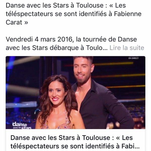 ✨Interview de Julien Brugel✨ Danse avec les Stars � Toulouse : � Les t�l�spectateurs se sont identifi�s � Fabienne Carat �  Vendredi 4 mars 2016, la tourn�e de Danse avec les Stars d�barque � Toulouse. L'occasion de voir danser Samia de Plus Belle la Vie. Son coach nous parle de sa partenaire.  http://actu.cotetoulouse.fr/danse-avec-les-stars-toulouse-les-telespectateurs-se-sont-identifies-fabienne-carat_30907/l
