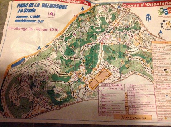 Challenge 06 de Course d'Orientation - Benjamin 3�me de la 1�re manche (circuit long)