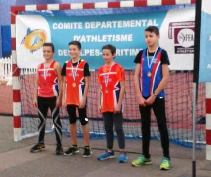 Départementaux de Triathlon Athlé en Salle 2017 (Nice) - David Bermon médaillé !