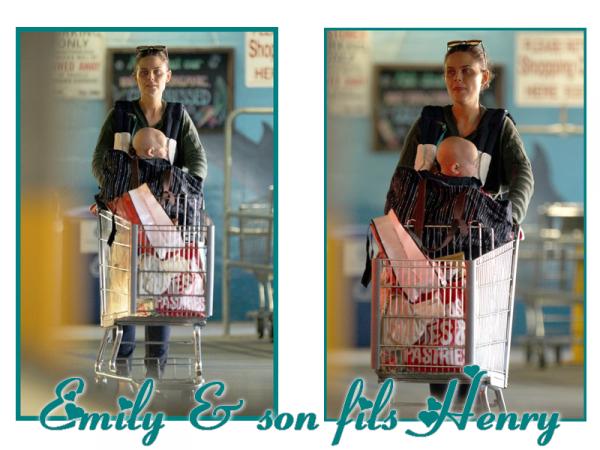 • • Le 3 Mars, Emily était de sortie avec son fils Henry !  C'est la première fois qu'on voit baby Henry : il est mignon !   • •