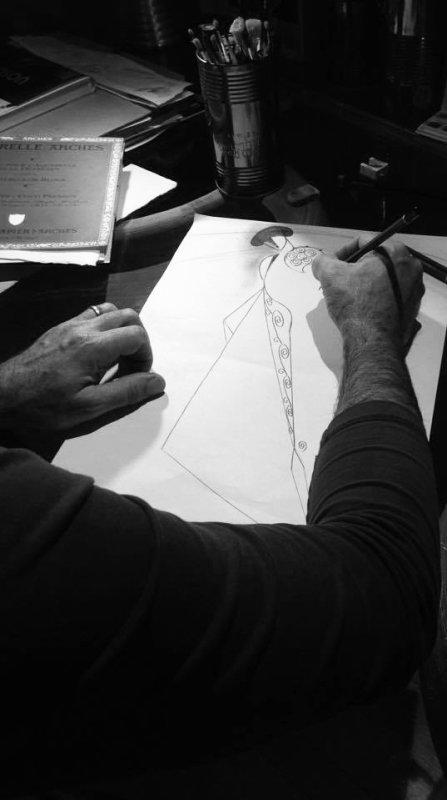 Croquis pour l'aquarelle que je réaliserai lors de la soirée à Pablo Romero à Nîmes ce vendredi 16 décembre.