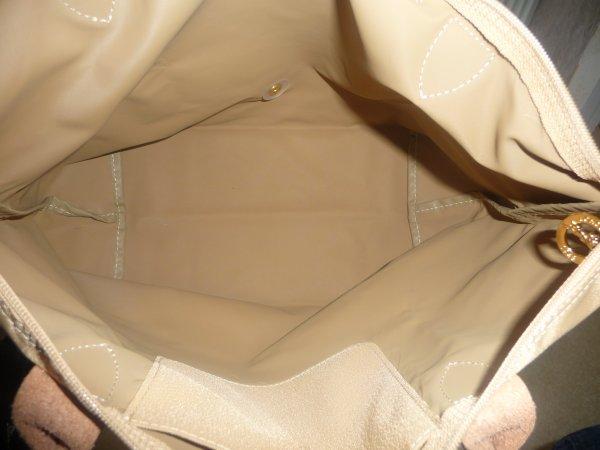 Super longchamps beige taille m DB43