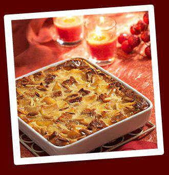 Clafoutis pommes et pain d'épices