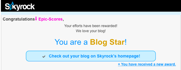 It's happening! Skyrock Team ♥ Ta everyone! ♥