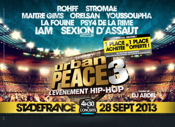 URBAN PEACE 3 - Le 28 septembre 2013