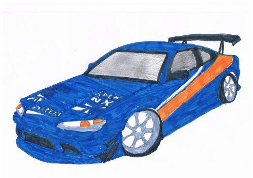 Nissan Silvia Fast And Furious 3 Bryan Le Dessinateur De