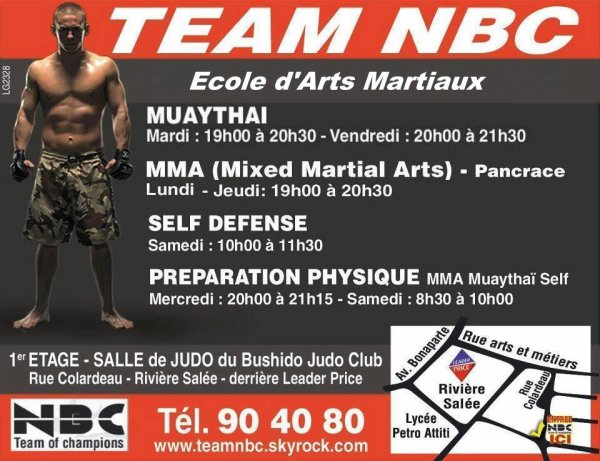 CONTACTS & HORAIRES & LIEUX D'ENTRAINEMENT : MMA Pancrace, Muaytha�, Self Defense, Pr�paration Physique