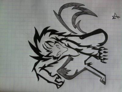 new dessin =) loup-garou tribal - Blog de Tsume-sama