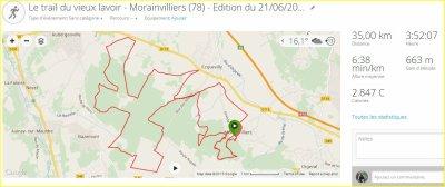 Le Trail du vieux lavoir - Morainvilliers (78) - Edition du 21/06/2015