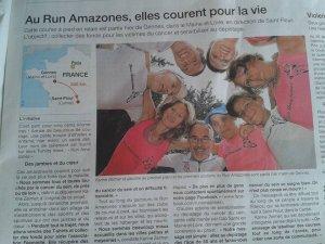 "D�fi ""Run amazones, courir sa vie"" - 18 et 19 juillet 2015"