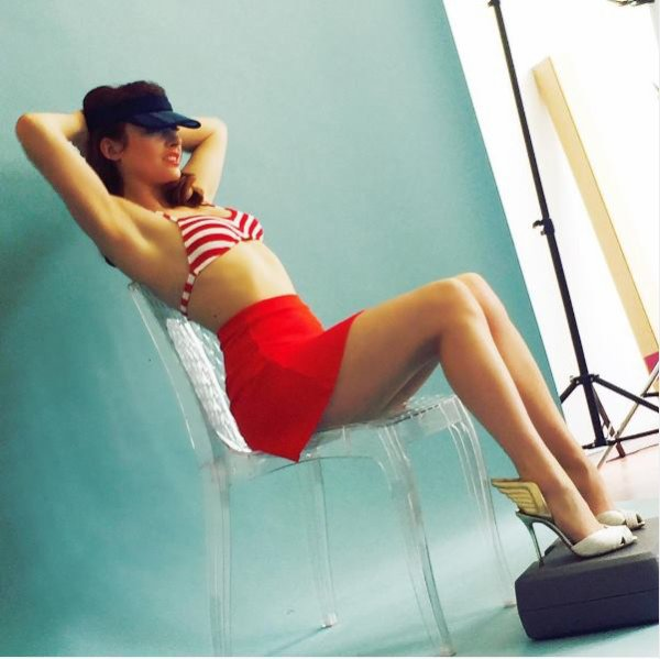 Elodie fr�g� pose pour le magazineTechnikart mag �t�, France le 30 juin 2016