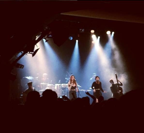 concert élodie frégé a Varsovie en Pologne le 24 novembre 2016