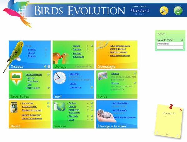 """logiciel """"Birds Evolution Pro"""""""