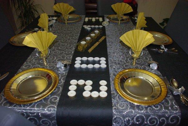 Nouvel an 2013 deco de table de christine for Table nouvel an
