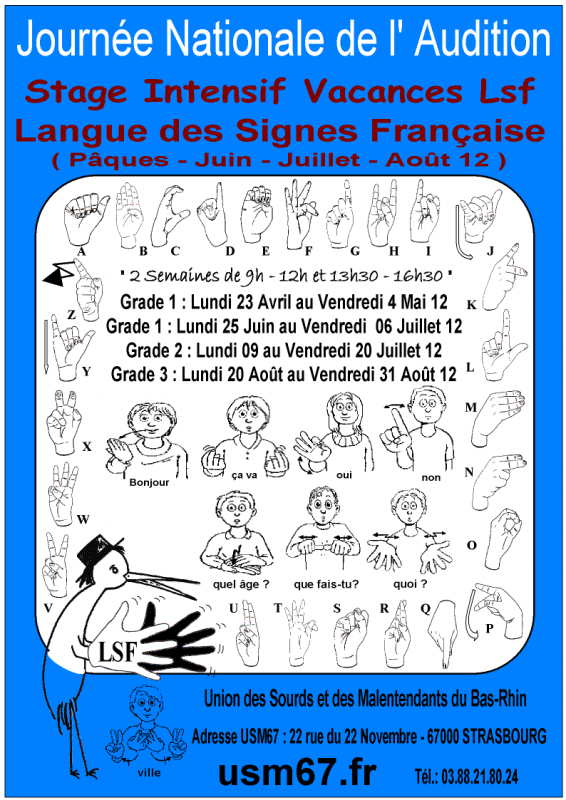 Stage Intensif Vacances Lsf