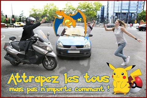 ⚠ #PokemonGo en France : attrapez-les mais pas n'importe comment ! #BSPP ⚠