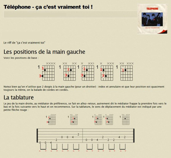 articles de tablature tagg s t l phone ca c 39 est vraiment toi tablature guitare. Black Bedroom Furniture Sets. Home Design Ideas