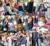 #Sortie : Avec des fans | Varsovie | Pologne | 24.08.2015 - La Belle Tinita , toujours en Promo pour Violetta et son film , se promenant dans la rue et signant des livres , des CD à des fans .