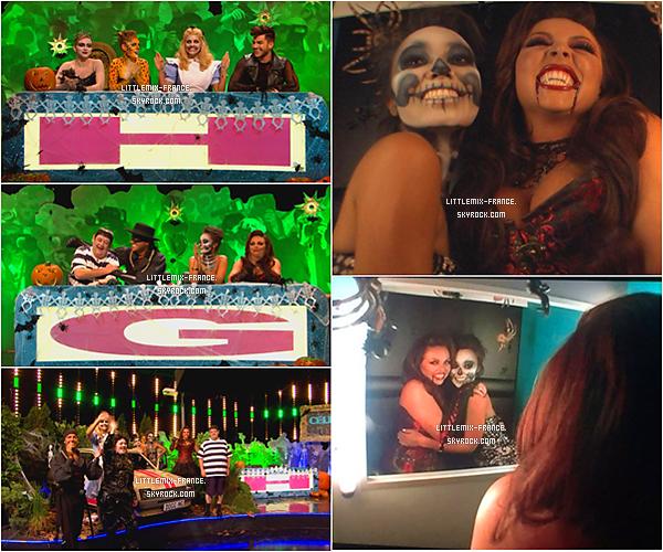 * D�couvrez l'�pisode sp�cial Halloween avec les Little Mix dans l'�mission Celebrity Juice  L'�pisode est diffus� le 29 octobre, a �t� enregistr� d�but Septembre. Vous pouvez aussi apercevoir les filles dans les coulisses   *
