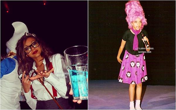 *  31/10/2015 : Perrie a f�t� Halloween en reine des glaces dont le make up a �t� fait par sa m�re.*