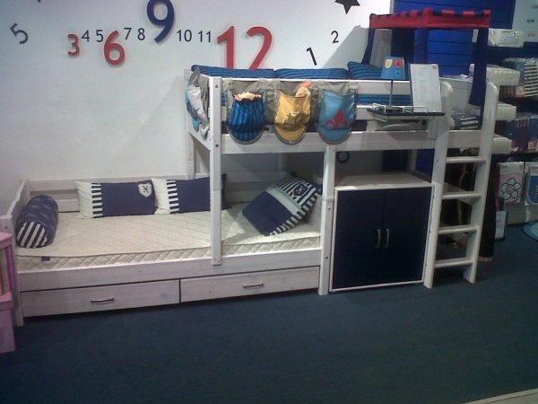 lit quinconce chambre modulable pour enfants