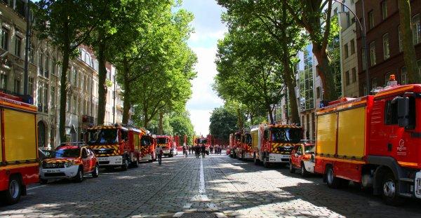 Sdis 59 - 2016  - D�fil� du 14 Juillet � Lille.