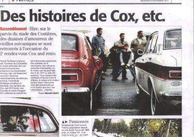 Le midi Libre sur Cox And R�tro du 02 nov 2011