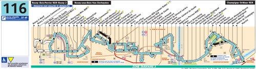 Ligne 116 RosnysousBois — Van Derheyden (BoisPerrier