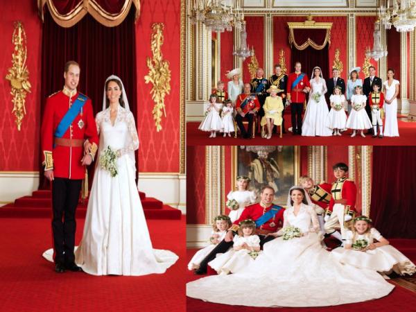 Kate et william le soir du mariage, les photos officielles des mariés ...