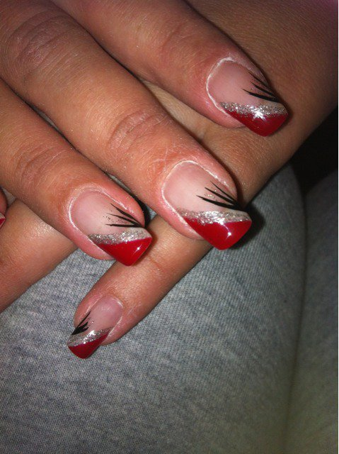 Gel rouge for hair nails - Deco ongle rouge ...