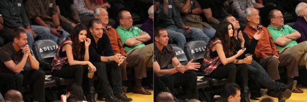 17 mars : Selena a un match de basket avec l'�quipe des Los Angeles Lakers