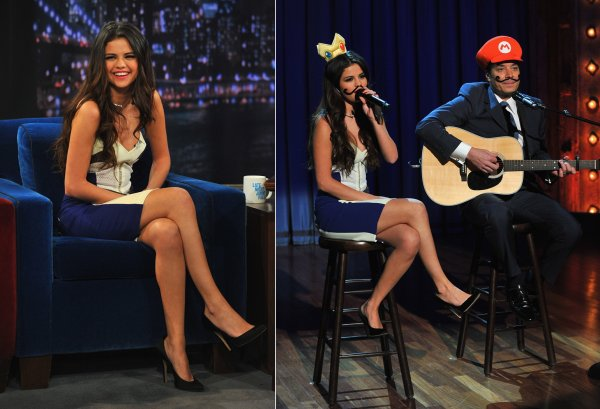 "19 mars : Selena au talk show ""Late Night with Jimmy Fallon"""