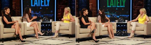 21 mars : Selena et Vanessa à l'émission de télévision de Chelsea Lately