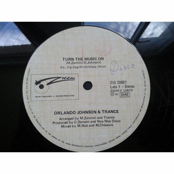 Orlando Johnson & Trance 1983   -  orlando johnson & trance – turn the music on Chez ZIG ZAG RECORDS