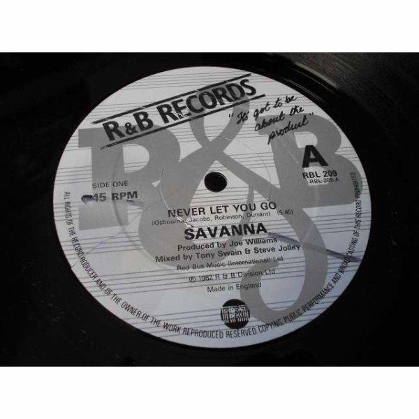 Savanna 1982  -  Never let you go sur le Label, R&B RECORDS