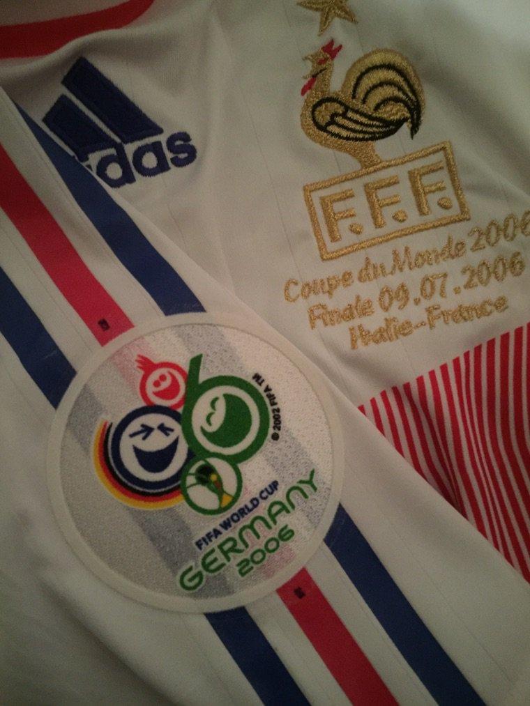 Fanion de match maillot porte t henry final de coupe du monde 2006 - Musique coupe du monde 2006 ...
