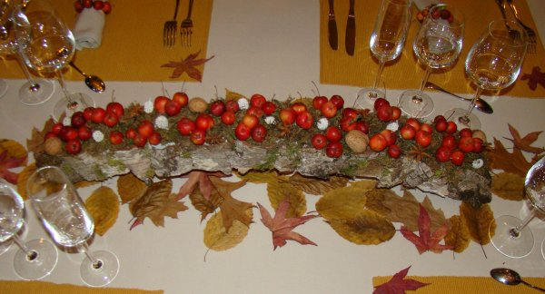 Une table d automne art floral patchwork mosaique - Deco de table automne ...