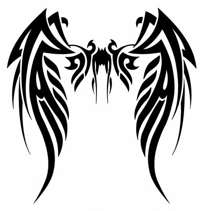 Ailes tatouage blog dessins a benfares - Tatouage aile d ange homme ...
