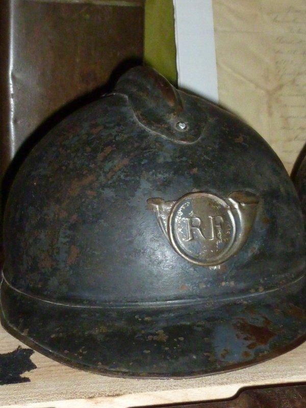 Casque adrian mod�le 1915 de chasseur