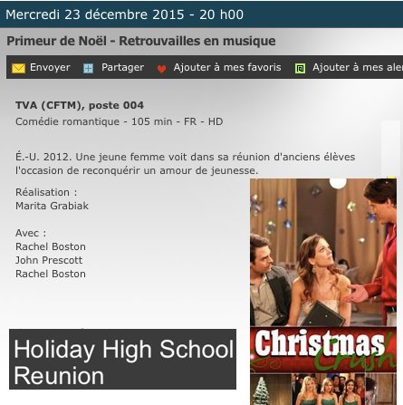 Retrouvailles en musique / Holiday High School Reunion 2012